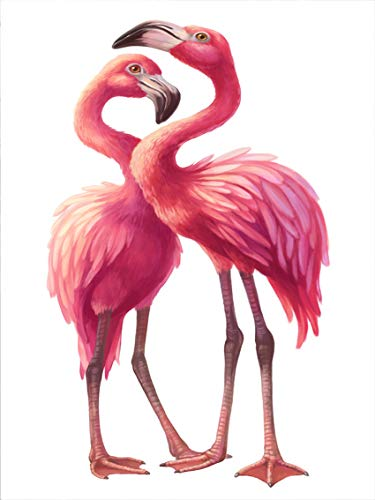 MHreat Metal Home Decor Sign 2 Pink Flamingo Love Together Wall Tin Art 8x12inches