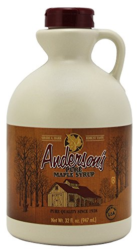 Anderson's Dark Amber Maple Syrup, Grade A, 32 Ounce (Frustration-Free Packaging)
