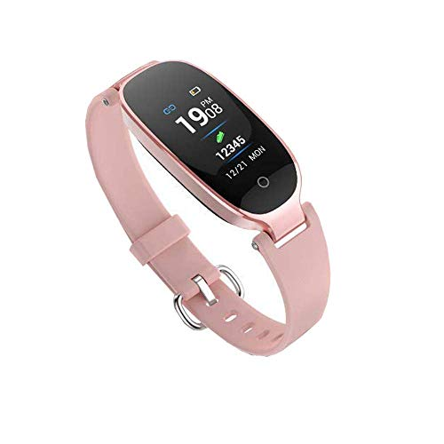Smart Watch for Women, Fitness Watch for Women Heart Rate Monitor Watches, Support Sleep Activity Tracker, IP67 Waterproof Fitness Smartwatch for Android/iOS(Rose Gold+H)