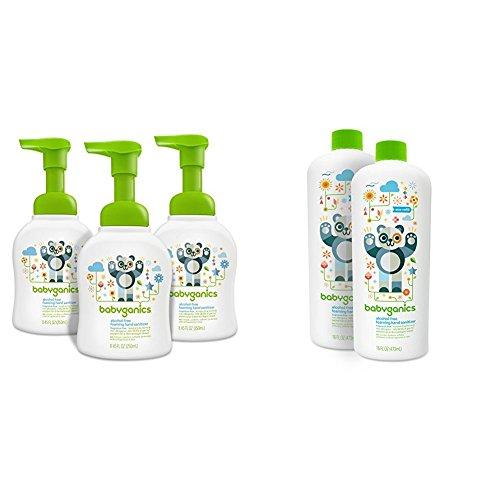 Babyganics Alcohol-Free Foaming Hand Sanitizer, Fragrance Free and Alcohol-Free Foaming Hand Sanitizer Refill, Fragrance Free