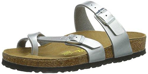 Birkenstock Women's Mayari Sandal,Silver,37 EU/6-6.5 N US
