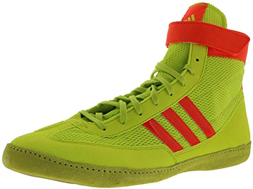 adidas Combat Speed 4 Youth Wrestling Shoes Solar Yellow/Solar Red Size 1.5