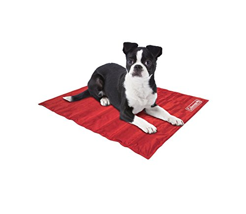 Coleman Comfort Cooling Gel Pet Pad Mat in Small 12x16, For Small Pets (Red)