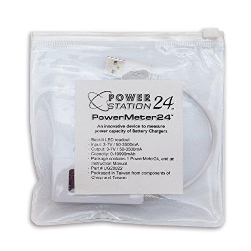 PowerMeter24 - USB Tester Measures Power Capacity of Power Banks and Mobile Battery Packs