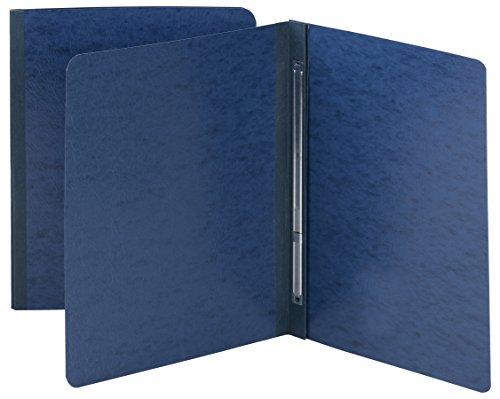 Smead Pressboard Report Cover, Metal Prong Side Fastener with Compressor, 3' Capacity, Letter Size, Dark Blue, 25 per Box (81351)