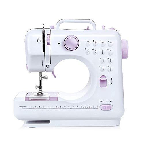 Top-spring Household Beginner Sewing Machine, Mini Multi-Function Sewing Machine with 2 Speeds,12 Stitches for Fabric, Clothing, Children's Cloth, Family Travel Use