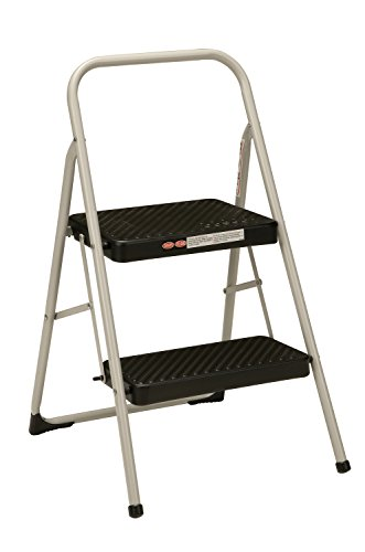 Cosco 2-Step Household Folding Step Stool, Gray
