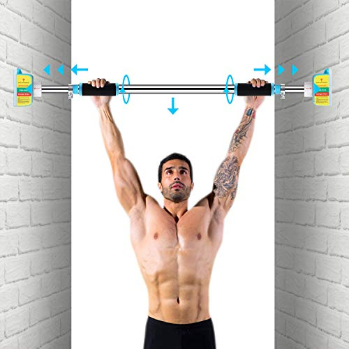 Pull Up Bars for Doorway No Screws Chin Up Bar with Locking Mechanism, Adjustable Width Exercise Bar Heavy Duty Upper Body Workout Bar for Home Gym Exercise Fitness (30.7'-40.6' (78cm-103cm))