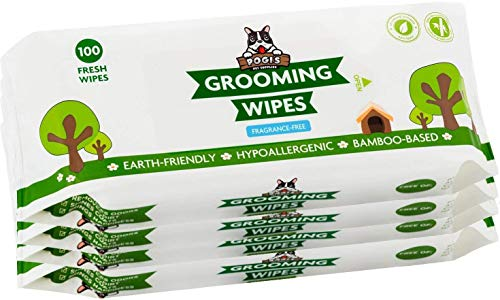 Pogi's Grooming Wipes - 400 Hypoallergenic Pet Wipes for Dogs & Cats - Plant-Based, Fragrance-Free, Deodorizing Dog Wipes