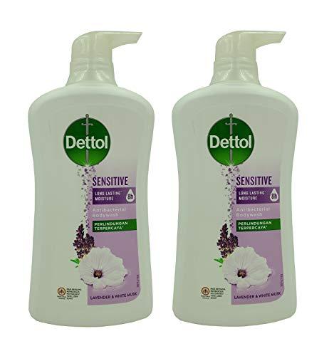 Dettol Anti Bacterial pH-Balanced Body Wash, Sensitive, 21.1 Oz / 625 Ml (Pack of 2)