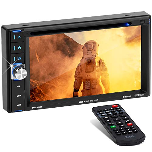 BOSS Audio Systems BV9358B Car DVD Player - Double Din, Bluetooth Audio and Calling, 6.2 Inch LCD Touchscreen Monitor, MP3 Player, CD, DVD, WMA, USB, SD, Auxiliary Input, AM FM Radio Receiver