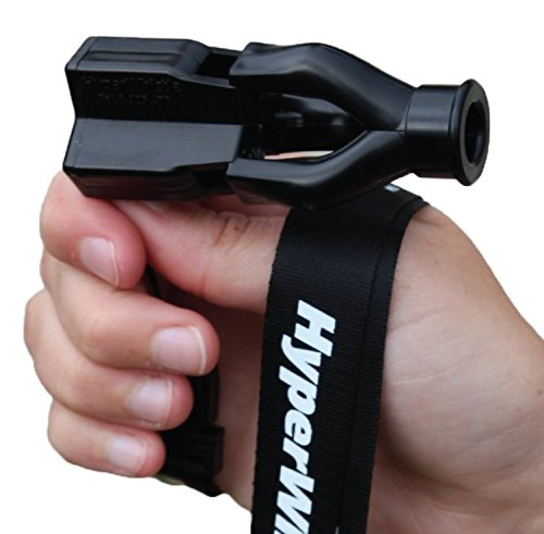 HyperWhistle The Original Worlds Loudest Whistle up to 142db Loud, Very Long Range, for Referee, Coaches, Instructors, Sports, Teachers, Life Guard, Self Defense, Survival, Emergency uses (Black)
