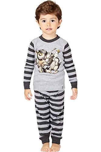 Where the Wild Things Are Toddler Boys' Wild Things Bookjama Pajama Set, Gray, 4T