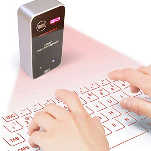 AGS Laser Projection Bluetooth Virtual Keyboard & Mouse for iPhone, Ipad, Smartphone and Tablets