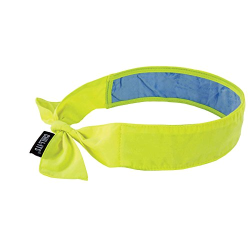 Ergodyne Chill Its 6700CT Cooling Bandana, Lined with Evaporative PVA Material for Fast Cooling Relief, Tie for Adjustable Fit, Lime