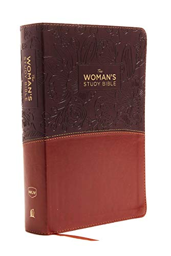 The NKJV, Woman's Study Bible, Leathersoft, Brown/Burgundy, Red Letter, Full-Color Edition: Receiving God's Truth for Balance, Hope, and Transformation