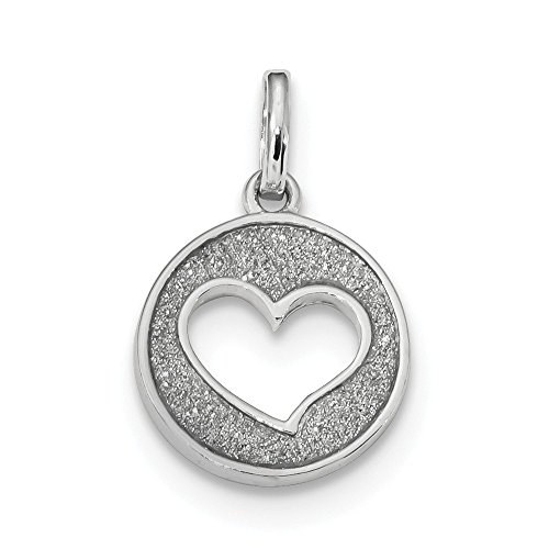 925 Sterling Silver Glitter Enamel Heart Cut Out Pendant Charm Necklace Love Fine Jewelry For Women Gifts For Her