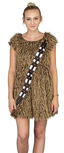 Star Wars I Am Furry Chewbacca Chewie Juniors Brown Skater Dress (Juniors 4X-Large)