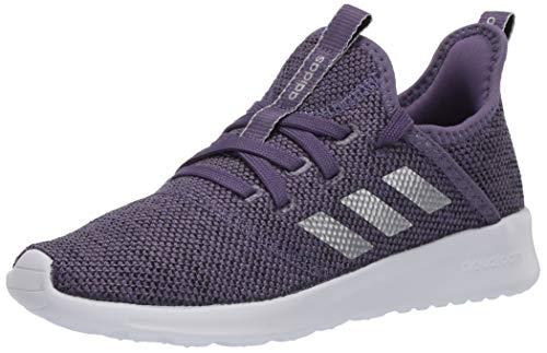 adidas Kid's Cloudfoam Pure Running Shoe, Purple/Matte Silver/Black, 2 Medium US