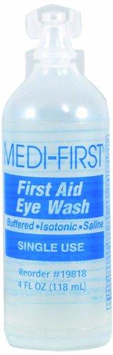 Medi-First Eyewash, Eye Rinse and Protection, First Aid Supplies, 4 Oz.