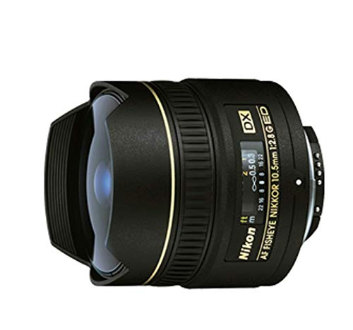 Nikon AF DX NIKKOR 10.5mm f/2.8G ED Fixed Zoom Fisheye Lens with Auto Focus for Nikon DSLR Cameras