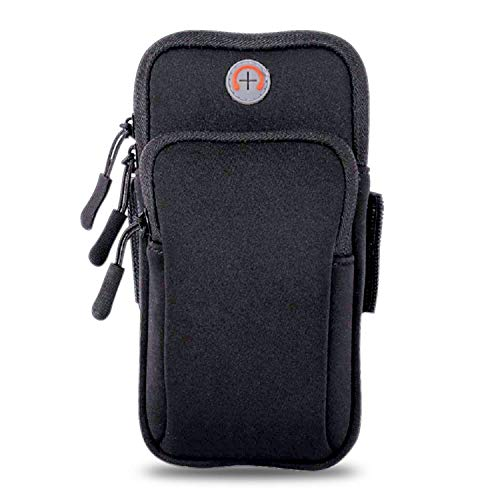 LENPOW Multifunctional Outdoor Sports Armband Sweatproof Running Armbag Casual Arm Package Bag Gym Fitness Cell Phone Pockets Key Holder iPhone Xs Max XR X 8 7 6s Plus Samsung Galaxy Note 5 S9 S8