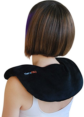 Neck Warmer Microwavable Heating Pad by TheraPAQ   Weighted Neck and Shoulder Heat Wrap - Best for Natural Moist Heat Therapy or as Cold Pack - Reusable, Microwave Heated Wrap - Non-Scented
