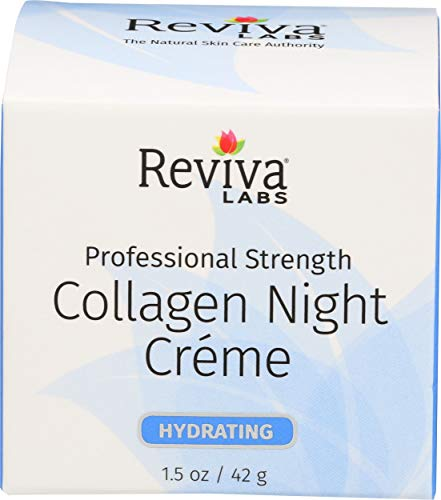 Reviva Collagen Night Cream for Hydrating, for Normal To Dry Skin - 1.5 Oz