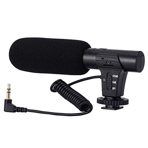 Video Microphone, Camera Microphone for Canon, Sony, Nikon, DSLR Camera/DV, Photography Interview Microphone with 3.5mm Interface (Not for Canon T5i,T6)