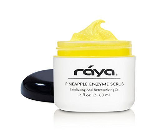 RAYA Pineapple Enzyme Facial Scrub (120)   Exfoliating and Refining Facial Scrub for Combination Skin   Creates a Glowing Complexion   Made with Pineapple Enzymes and Jojoba Beads