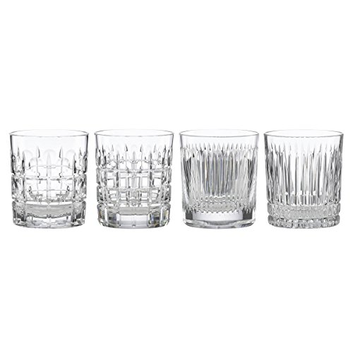 REED AND BARTON New Vintage 4pc Double Old Fashioned Glass Set, 5.00 LB, Clear