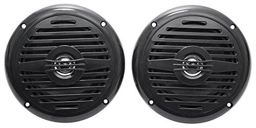 Pair Rockville MS525B 5.25' 400 Watt Waterproof Marine Boat Speakers 2-Way Black