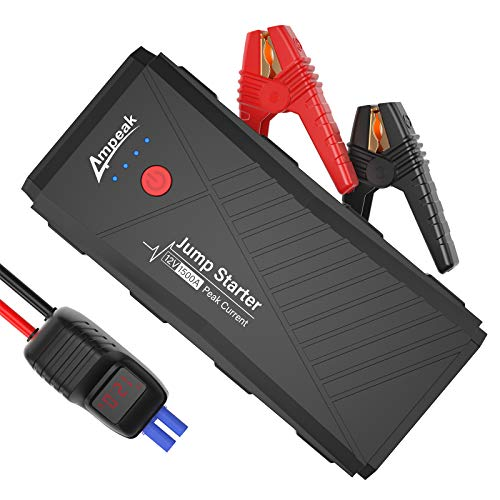 Ampeak Car Jump Starter: 1500A Peak 16800mAh Portable Battery Booster Power Pack (Up to 8L Gas or 6L Diesel Engine) with USB Quick Charge 3.0