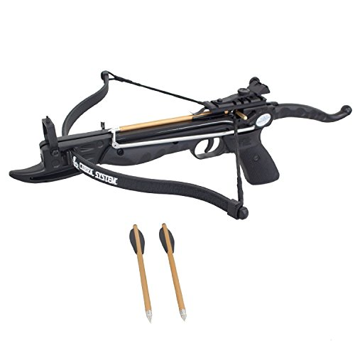 Southland Archery Supply Prophecy 80 Pound Self-Cocking Pistol Crossbow with Cobra System Limb and 3 Arrows