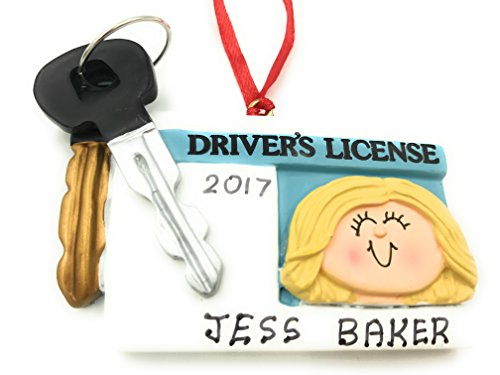 New Driver License Female Blonde Christmas Ornament 2020