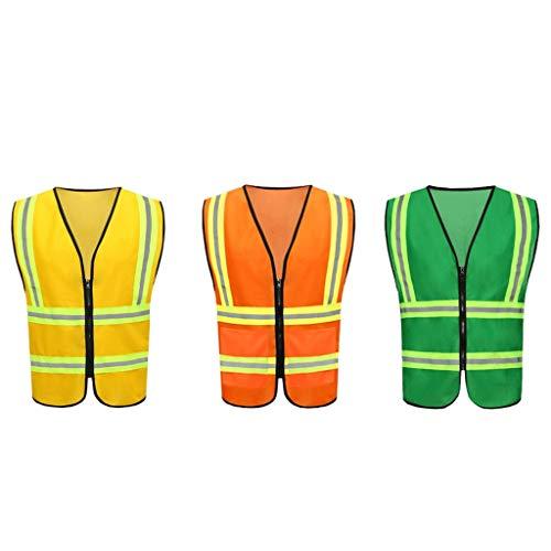 Construction Night Safety Vest Riding Vest Protective Clothing Reflective Vest FANJIANI (Color : Orange)
