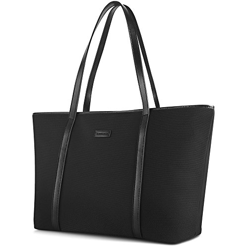 NEW Extra Large Work Tote Bag, CHICECO X-Large 22.83 Inch Length Travel Bag fits to Laptop for Women (X-Large, Black)