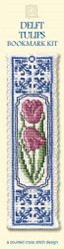 Delft Tulips Bookmark - Cross Stitch Kit
