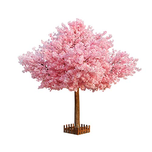 BOWCORE Large Artificial Flowering Tree Plant 150cm Simulation Cherry Tree Wedding Decor Cherry Blossom Tree for Indoor Decoration Pink Flowers - 5ft Tall