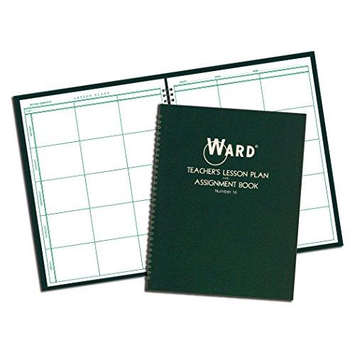 Ward Lesson Plan Book, Wirebound, 11' x 8-1/2', 100 Pages, Green (HUB16)