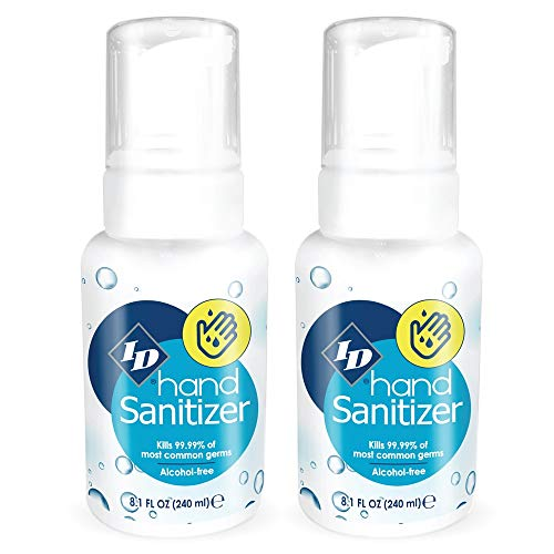 ID hand Sanitizer Antibacterial Made in USA Alcohol Free, 8.1 Fl Oz (Pack of 2)