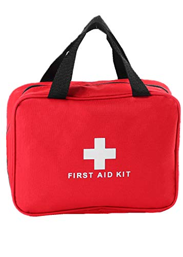 PAXLamb First Aid Bag First Aid Kit Empty Medical Storage Bag Red Trauma Bag for Emergency First Aid Kits Car Workshop Cycling Outdoors (Red 1PC)