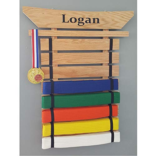 KarateSupply Personalized Martial Arts Belt Holder - Made in The USA