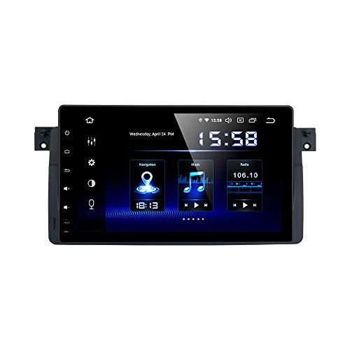 Dasaita 9' Android 10.0 Bluetooth Car Stereo for BMW E46 M3 2002 2003 2004 2005 2006 Head Unit with 4G RAM / 64G ROM Car Radio Touch Screen GPS Navigation Dash Kit Built in DSP 15Band EQ