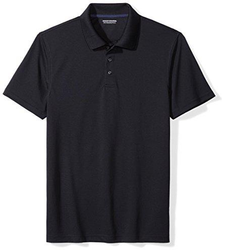 Amazon Essentials Men's Slim-Fit Quick-Dry Golf Polo Shirt, Black, Medium