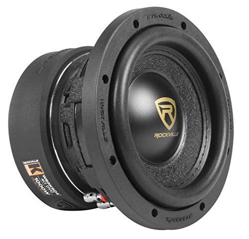 Rockville W65K9D4 6.5' 1000w Car Audio Subwoofer Dual 4-Ohm Sub CEA Compliant