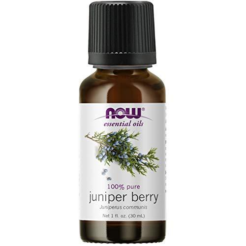 NOW Essential Oils, Juniper Berry Oil, Restoring Aromatherapy Scent, Steam Distilled, 100% Pure, Vegan, Child Resistant Cap, 1-Ounce
