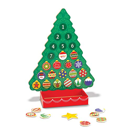 Melissa & Doug Countdown to Christmas Wooden Advent Calendar