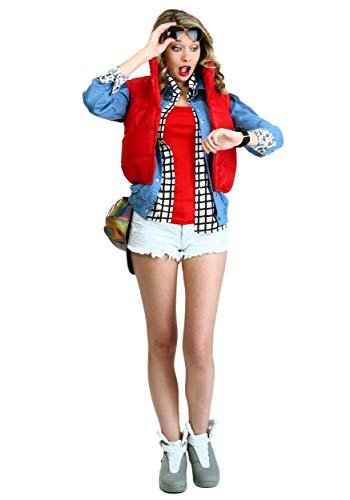 Adult Back to The Future Costume Women's Marty McFly Costume Medium