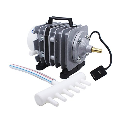 Lewisia 35W Commercial Air Pump 794 GPH Magnetic Oxygen Pump with 6 Outlet for Koi Pond Aquarium Hydroponics Fish Tank Fountain Pond Air Aeration Kit